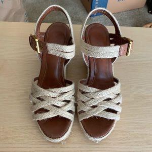 Ralph Lauren Henna Espadrille Wedge Sandals size 8